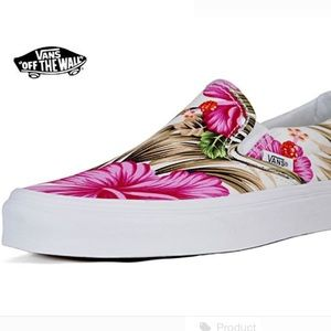 223fbf9284f41a Vans Shoes - Vans Off The Wall Hawaiian Floral Pink tropical